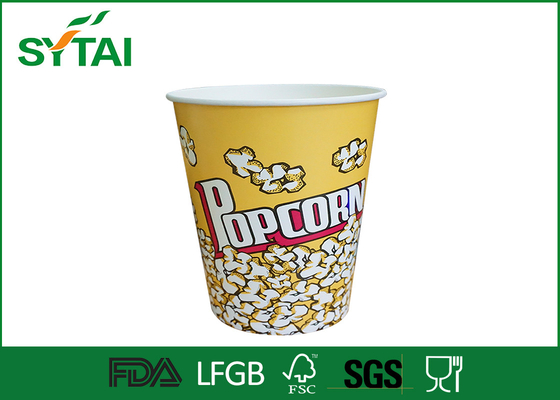 Disposable Paper Popcorn Baldes / papel biodegradável Cups pipoca Multi Color